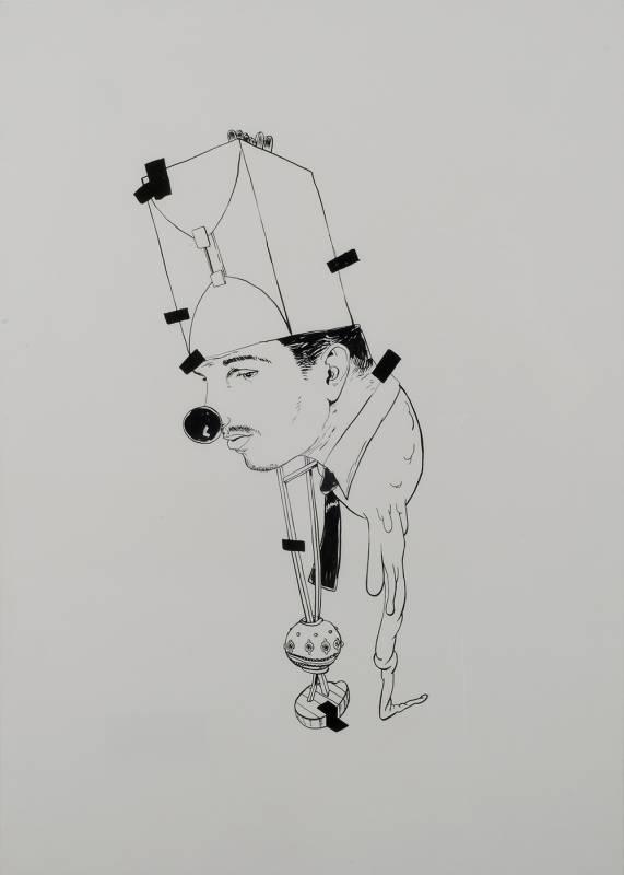 Kresba za sklem
