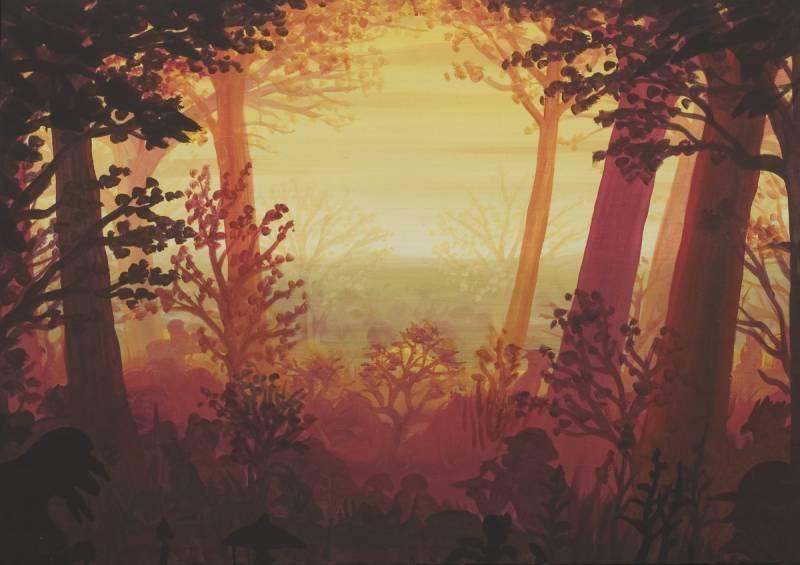 Červený les